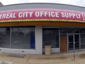 The old Cereal City Office Supply store at 50 W Michigan Ave. (Photo: BC Enquirer)