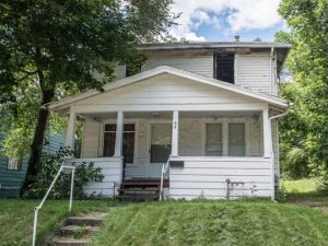 This blighted home at 84 Riverview Ave will be demolished by the Calhoun County Land Bank Authority.