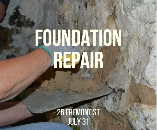 Foundation Repair on July 31, 2019 at 26 Fremont Street